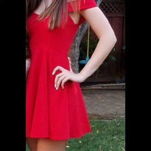 Cute Red off the shoulder dress